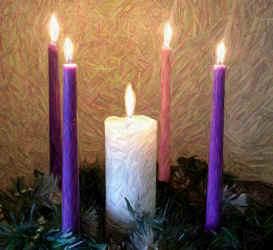 Christmas - Candles Wallpaper - Christian Wallpapers and ...  |Christian Christmas Candles